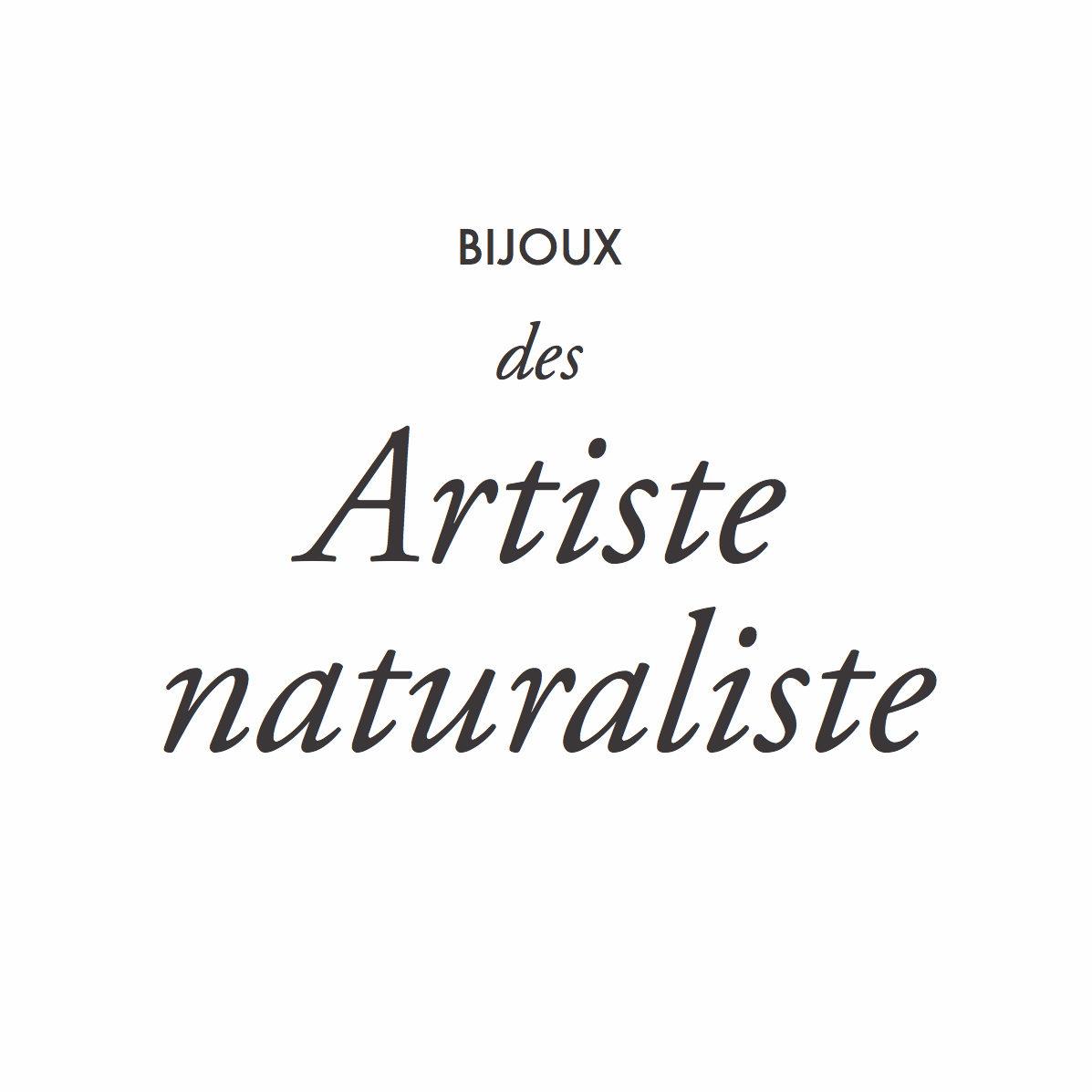 BIJOUX DES ARTISTE NATURALISTE